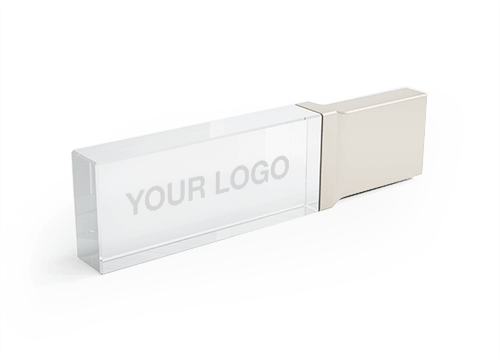 Crystal - Branded Flash Drives