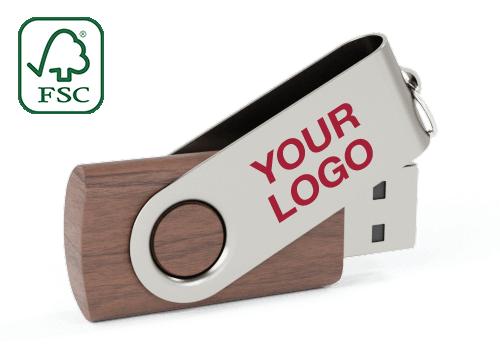 Twister Wood - Wood USB Flash Drive